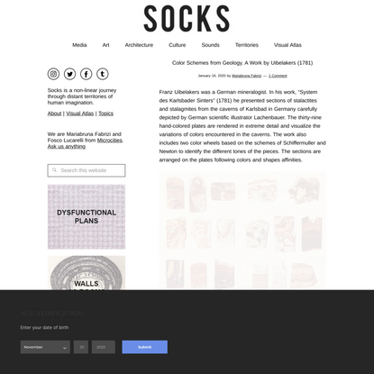 Color Schemes from Geology. A Work by Uibelakers (1781) – SOCKS