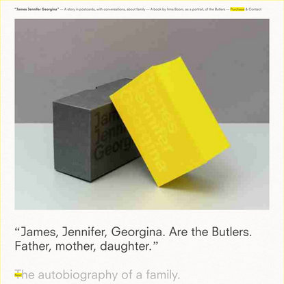 James Jennifer Georgina (The Yellow Book) — A story in postcards, with conversations, about family — A book by Irma Boom, wi...