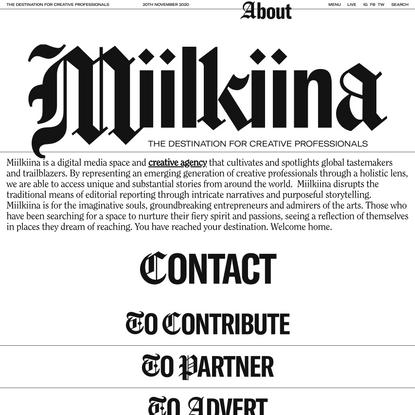 About - Miilkiina
