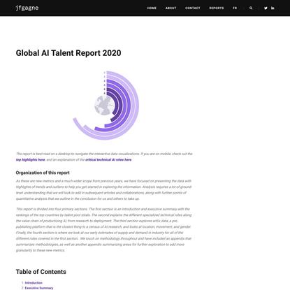 Global AI Talent Report 2020 - jfgagne