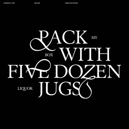 """Akatre on Instagram: """"Anneaux typeface by Akatre"""""""