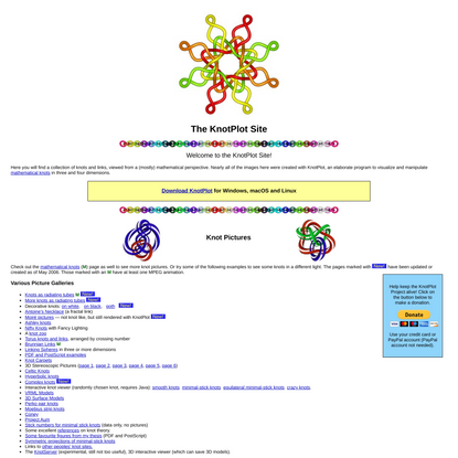 The KnotPlot Site
