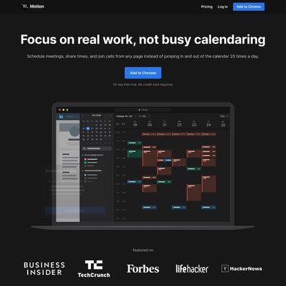 Motion | Streamline tedious calendaring tasks