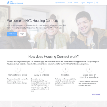 Housing Connect 2 | Public Portal