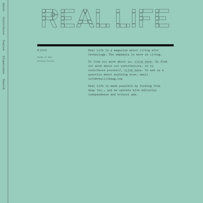 Home Body — Real Life