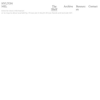 The Shelf — Hylton Nel