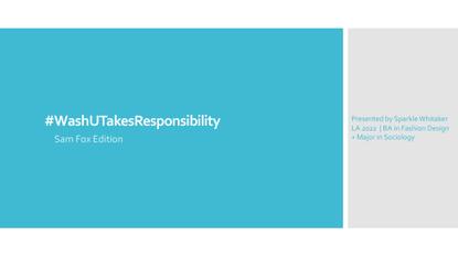 #WashUTakesResponsibility