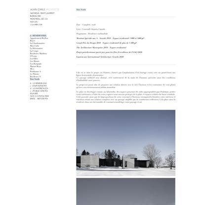 True North | Alain Carle Architecte