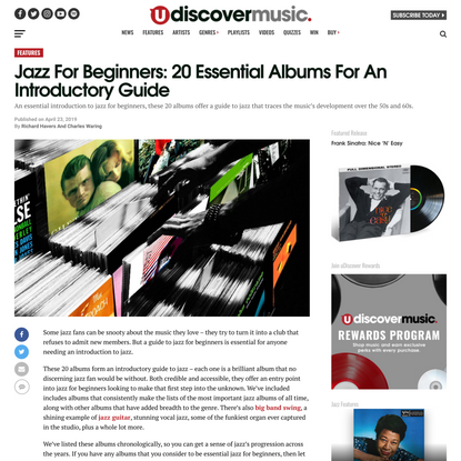 Jazz For Beginners: 20 Essential Albums For An Introductory Guide   uDiscover