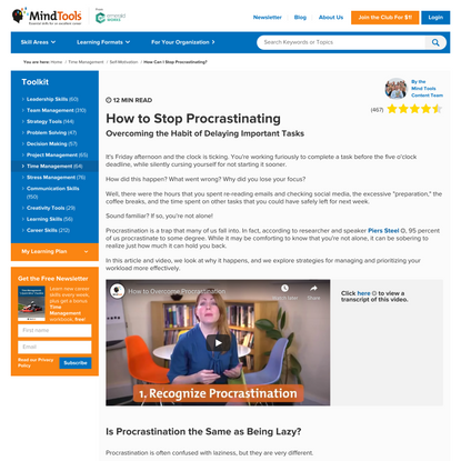 How Can I Stop Procrastinating?: Overcoming the Habit of Delaying Important Tasks
