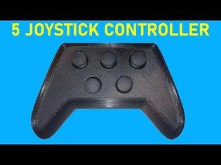 5 JOYSTICK CONTROLLER   3D PRINTED CONTROLLER