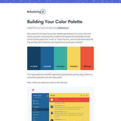 Building Your Color Palette