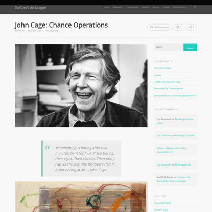 John Cage: Chance Operations | Seattle Artist League