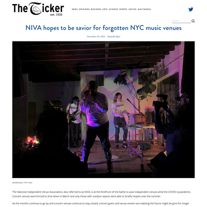 NIVA hopes to be savior for forgotten NYC music venues — The Ticker