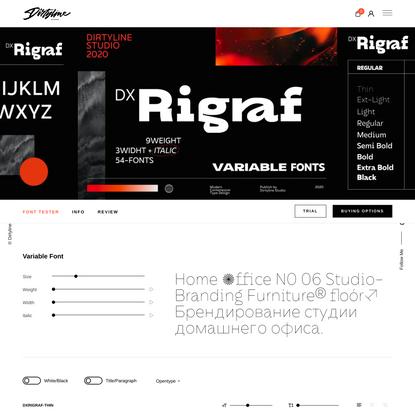 Dx Rigraf Sans Serif Font – Dirtyline Studio