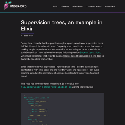 Underjord | Supervision trees, an example in Elixir