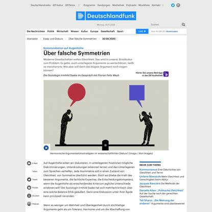 Kommunikation auf Augenhöhe - Über falsche Symmetrien