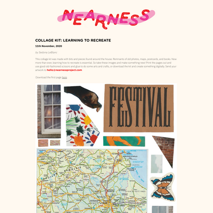 Nearness | Collage Kit: Learning To Recreate