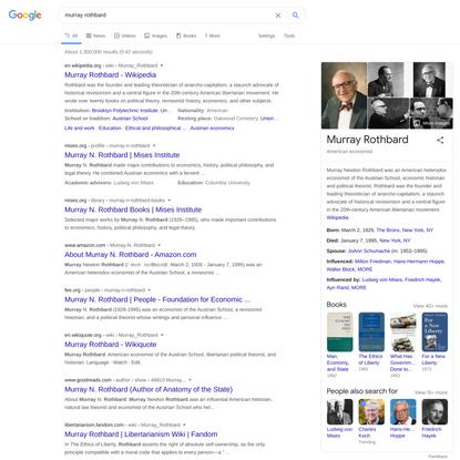 murray rothbard - Google Search