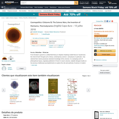 Cosmopolitics I (Volume 9): The Science Wars, the Invention of Mechanics, Thermodynamics