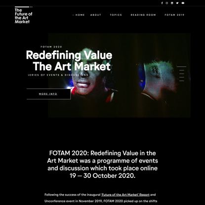 Future of the Art Market (FOTAM) 2.0 – FOTAM 2.0 conference and events