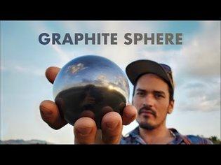 Shiny Graphite Ball made from Clay and Graphite (Dorodango)