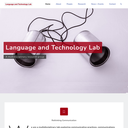 Language and Technology Lab – A multidisciplinary research group