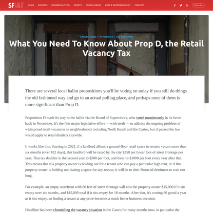 What You Need To Know About Prop D, the Retail Vacancy Tax