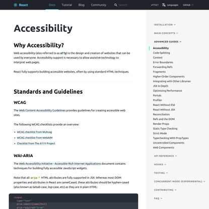 Accessibility – React