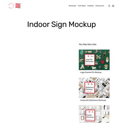 Indoor Sign Mockup — Mr.Mockup | Graphic Design Freebies