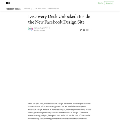 Discovery Deck Unlocked: Inside the New Facebook Design Site