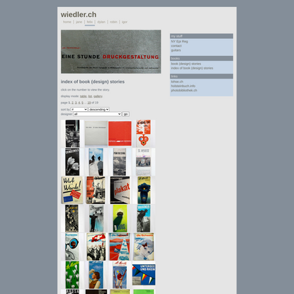 felix - books • list • wiedler.ch