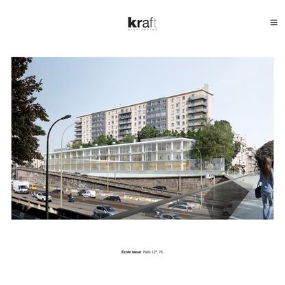École bleue Paris 12e, ZAC de la Porte de Vincennes | kraft architectes