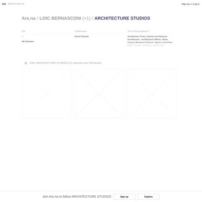 ARCHITECTURE STUDIOS — Are.na