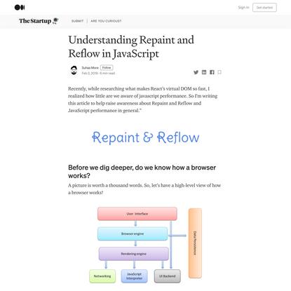 Understanding Repaint and Reflow in JavaScript