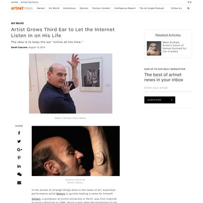 Artist Grows Third Ear - artnet News
