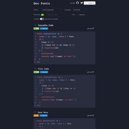 Dev Fonts