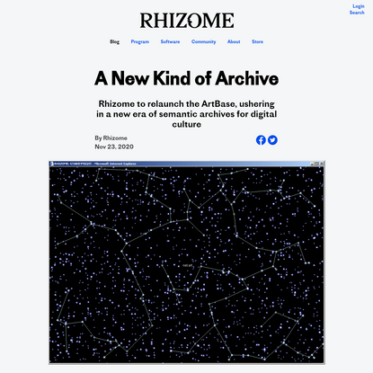 A New Kind of Archive