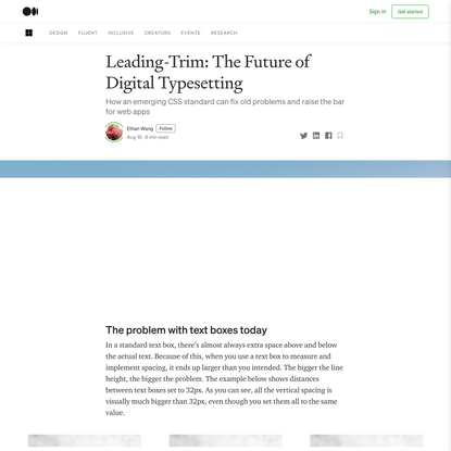 Leading-Trim: The Future of Digital Typesetting