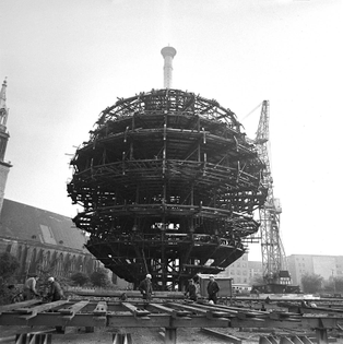 TV tower under construction, 1967