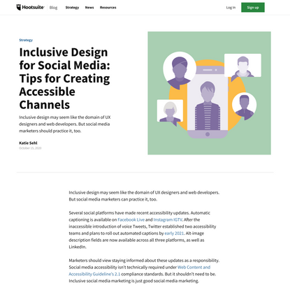 Inclusive Design for Social Media: Tips for Creating Accessible Channels