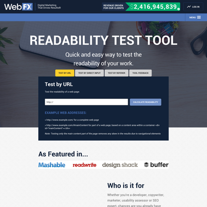Readable | Free Readability Test Tool