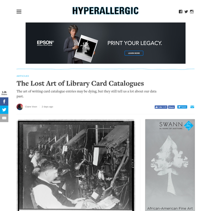 The Lost Art of Library Card Catalogues
