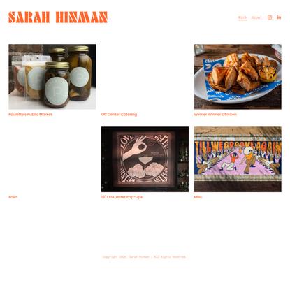 Sarah Hinman