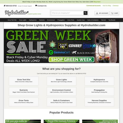 Grow Lights & Hydroponics Supplies - Hydrobuilder.com