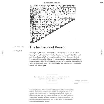 The Inclosure of Reason