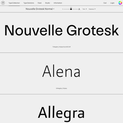 Nouvelle Grotesk - Nouvelle Noire: Use Nice Fonts!