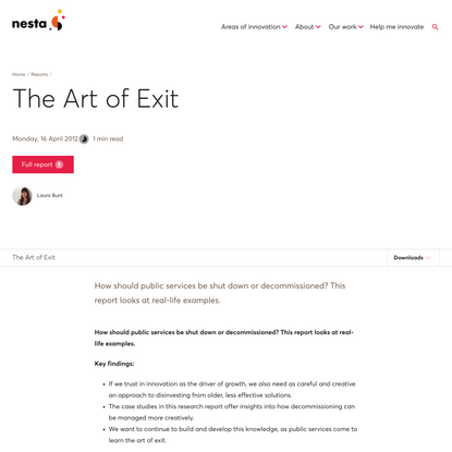 The Art of Exit