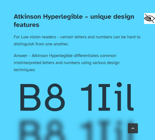 Atkinson Hyperlegible font is named after Braille Institute founder, J. Robert Atkinson.