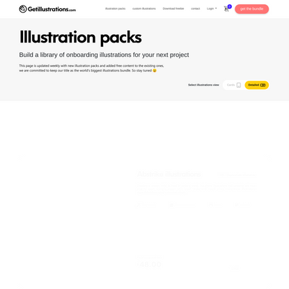 Get illustrations for Websites and applications